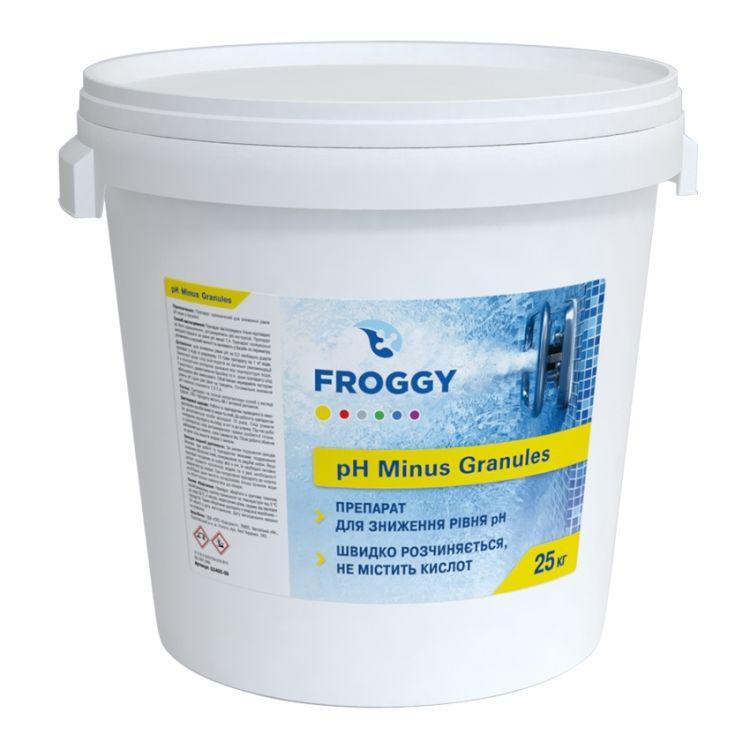 pH минус в гранулах Froggy 25 кг. Средство для понижения пш воды бассейна Фрогги pH minus