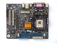 Материнская плата s478 Elitegroup P4VMM2 (VIA P4M266A, 2xDDR, 1xAGP, VGA) бу