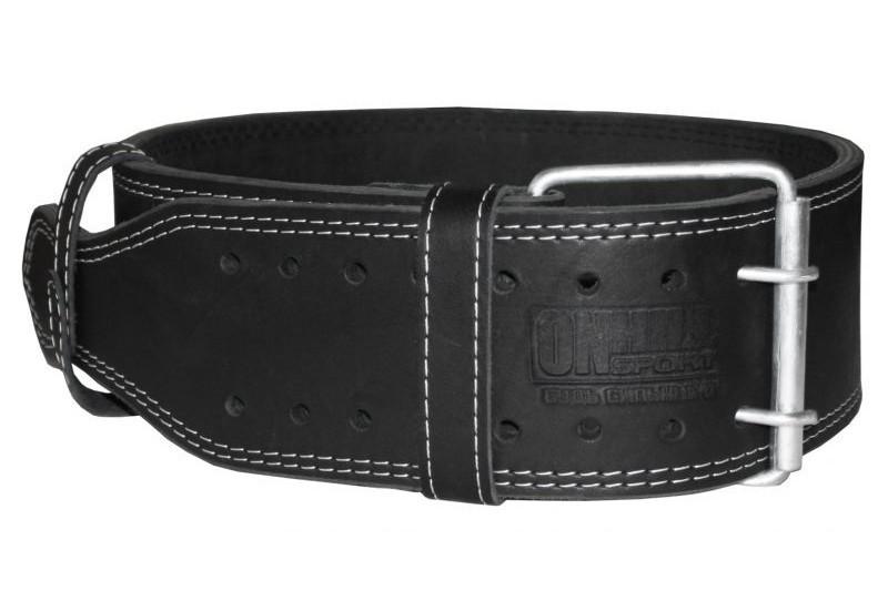 Пояс для пауэрлифтинга кожаный 2-хслойный, размер L  (78-96 см)
