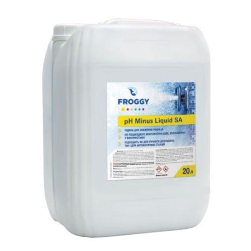 PH минус жидкий Froggy - Liquid SA 20 литров. Средство для понижения пш воды бассейна pH minus.
