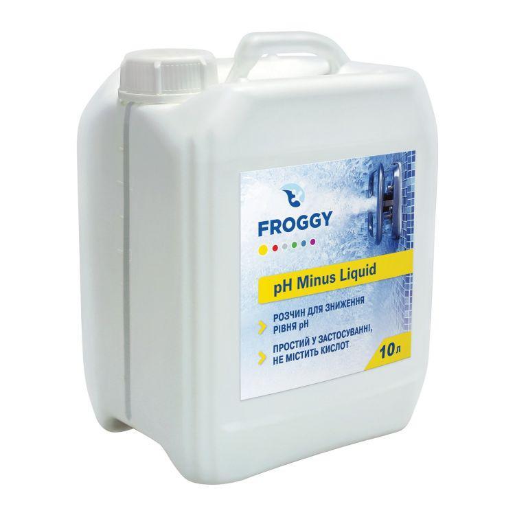 Средство для понижения pH минус Froggy pH- Liquid (10 л) жидкость для бассейна