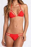 Раздельный красный женский купальник-шторки опт, фото 1