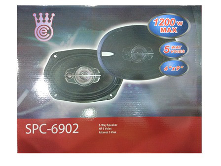 Акустика автомобильная SP-6902 6''*9'', 5-х полосная мощность колонок автомобильных 1200W