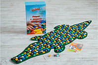 Массажный коврик массажер с цветными камнями Крокодил (р.146х50см), фото 1