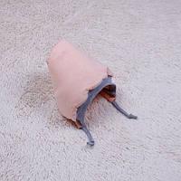 """Теплая шапочка для новорожденных """"Mini"""", персик"""
