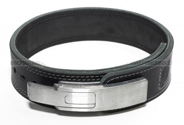 Пояс для пауэрлифтинга кожаный 3-хслойный с карабином р-р S  (58-80 см)