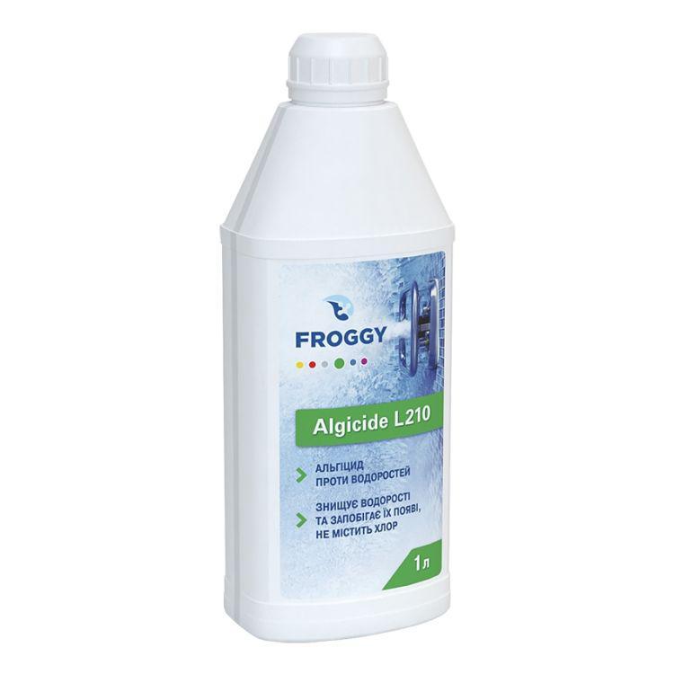 Альгицид Froggy Algicide L210 1 литр. Средство против водорослей в воде бассейна