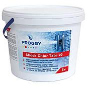 Шоковый хлор в таблетках Froggy 8 кг ShockChlor Tabs 20 для бассейна