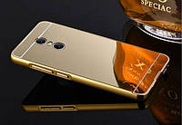 Чехол для телефона Lenovo K6 power, зеркальный золотистый (Леново К6), фото 1