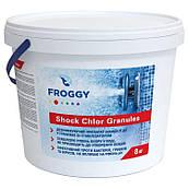 Быстрорастворимый препарат для обработки бассейна. Шоковый хлор Froggy  в гранулах , 8 кг