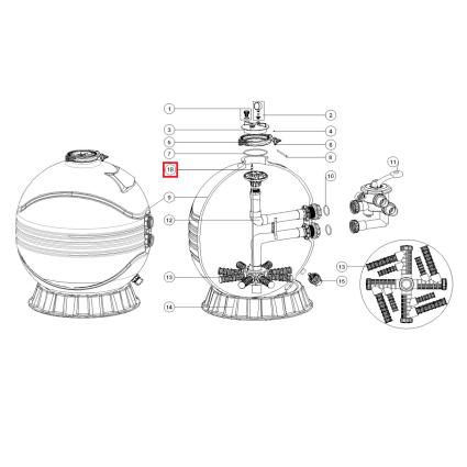 Emaux Дифузор для фильтров Emaux серии MFV27/31/35 (89012612)