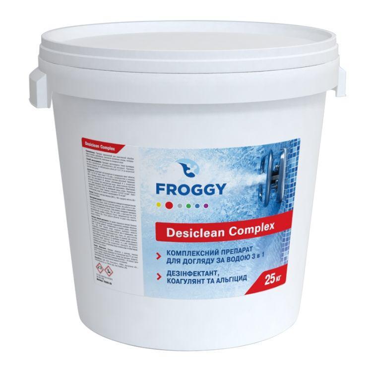 Хлорные таблетки 3 в 1 Froggy Desiclean (50 кг) для длительной дезинфекции бассейна в виде больших таблеток