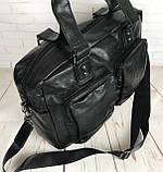 Мужская городская сумка. Сумка для поездок. Стильная вместительная сумка. Мужские сумки., фото 7