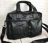 Мужская городская сумка. Сумка для поездок. Стильная вместительная сумка. Мужские сумки., фото 8