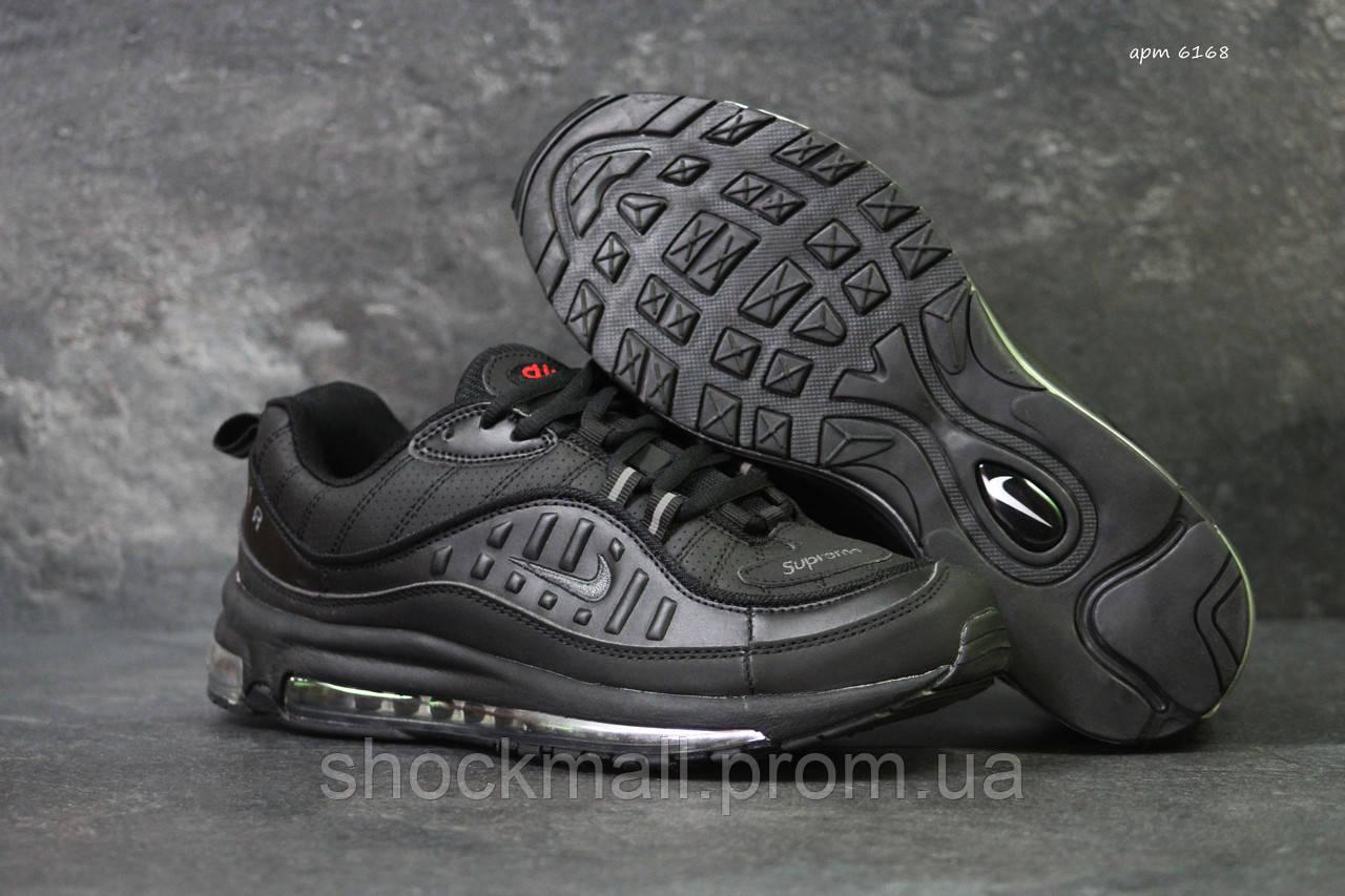 3be8aa54 Кроссовки мужские Nike Air Max 98 x Supreme черные кожа Вьетнам реплика -  Интернет магазин ShockMall