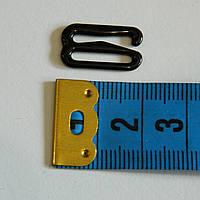 Крючок для бретелей, 2см (черный металл) - 1000шт.
