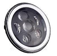 Фара мото LED 7 дюймів DL-7S03 (Black RGB) Нива, УАЗ 469, ГАЗ 24, ВАЗ 2101, Хаммер, FJ Cruiser, Harley-Davidso