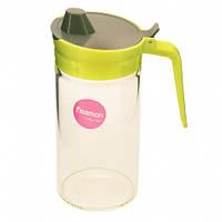 Бутылка для масла 550 мл с пластиковой крышкой (стекло)