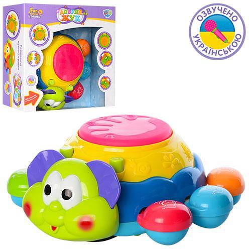 Гра дитяча 7259 UA Жучок, рухається, музичний, світло, на батарейках, в коробці, 25 см