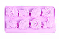 Форма для льда или шоколада 8 ячеек ПАСХАЛЬНЫЙ КРОЛИК 20,8x10,8x1,8 см (силикон)