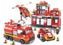 Конструктор SLUBAN М38 В0226 Пожарные спасатели, 693 детали