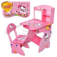 Детская парта М 0324 Hello Kitty со стульчиком, регулируемая