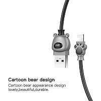 Кабель зарядка Baseus Bear Calbe Lightning 2A (1m)  CALBE - 0G (серый с черным)
