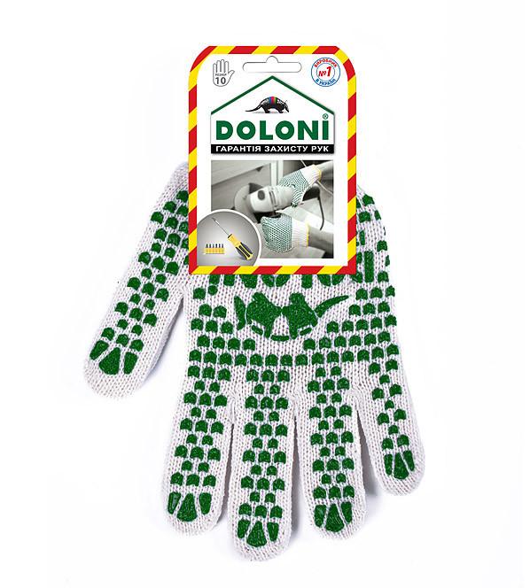 Рабочие перчатки с ПВХ 7 класс Doloni 547 (10 ПАР)