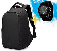 Рюкзак-антивор с USB портом Bobby Backpack Черный, Black., фото 1
