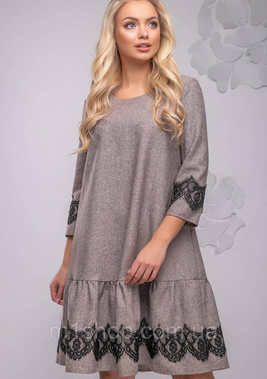 Женское платье свободного кроя с кружевом (2780-2778 svt)