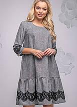 Женское платье свободного кроя с кружевом (2780-2778 svt), фото 2