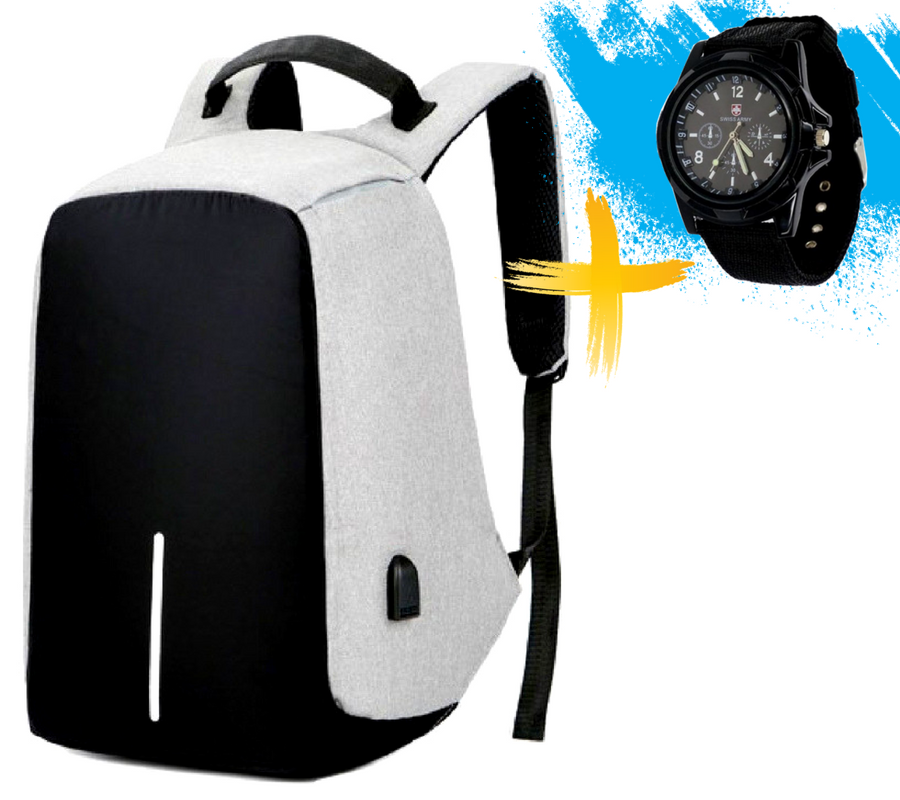 c9810191c7e2 Рюкзак-антивор с USB портом Bobby Backpack Серый. Gray: продажа ...