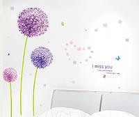 Интерьерная наклейка на стену Цветы mAM7010 140x140см