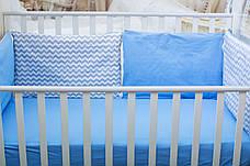"""Бортики в кроватку """"Смурфики"""" (Бисквит), фото 2"""