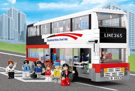 Конструктор SLUBAN М38 В0335 двухэтажный автобус