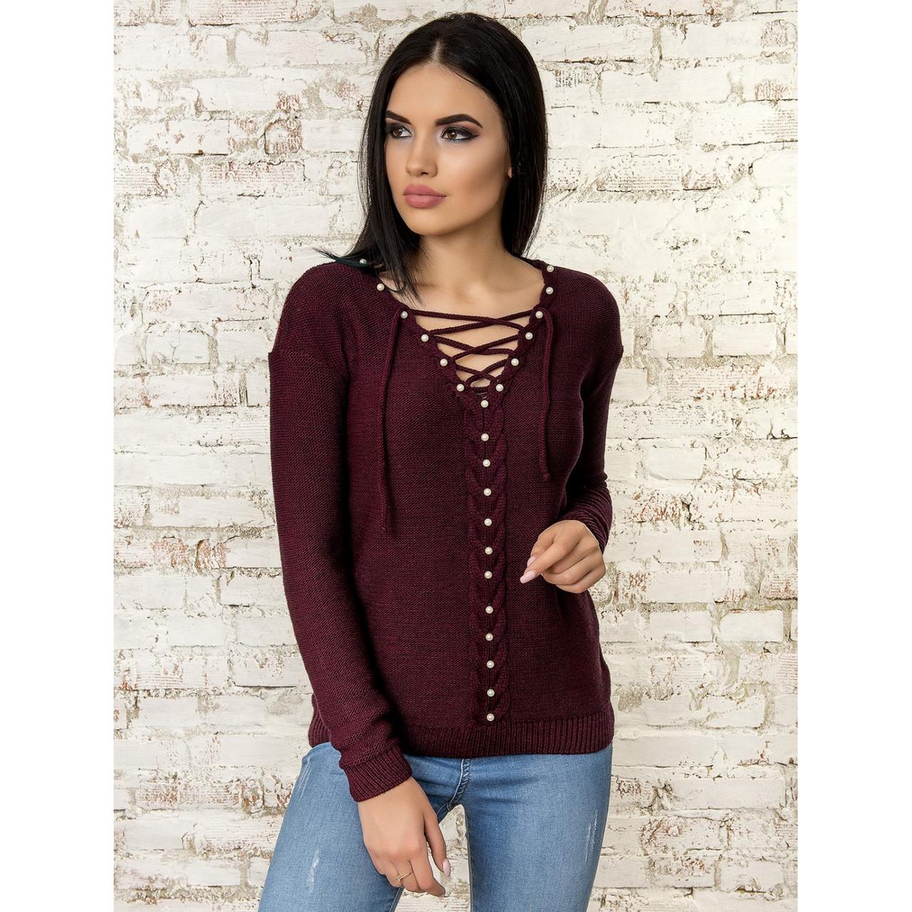 211e3616a9d Вязаный свитер с жемчугом 42-44 размеры 4цвета  В наличии