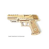 UGEARS Механический 3D пазл Пистолет Вольф-01 (62 детали), фото 1