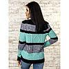 Трехцветный вязаный свитер 42-44-46 размеры 3цвета, фото 2