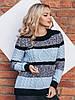Трехцветный вязаный свитер 42-44-46 размеры 3цвета, фото 3