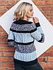 Трехцветный вязаный свитер 42-44-46 размеры 3цвета, фото 4