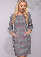 Женское приталенное платье в клетку (2779-2782 svt)