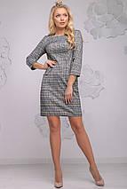 Женское приталенное платье в клетку (2779-2782 svt), фото 2
