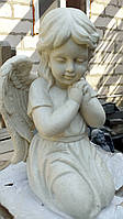 Ангелы из мрамора. Скульптура Ангела девочки № 88 из литьевого мрамора 50 см