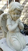 Скульптура Ангела девочки № 88 из литьевого мрамора 50 см