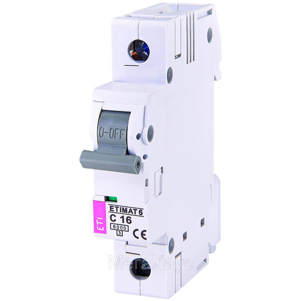 Копия Автоматический выключатель ETIMAT 6 1p С 16А (6 kA)