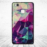 Силиконовый бампер чехол для Huawei P9 lite с рисунком Битое стекло