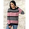 Трехцветный вязаный свитер 42-44-46 размеры 3цвета, фото 5