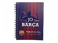 Блокнот пластиковая обложка на спирали 80 листов А6 Barcelona