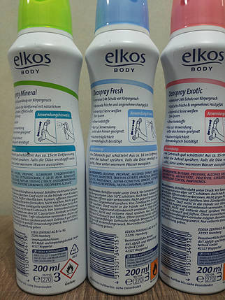 Дезодорант спрей Elkos, фото 2