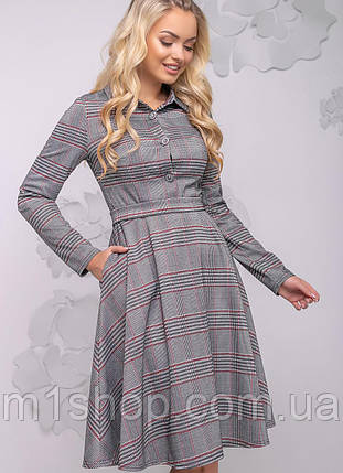 Женское расклешенное платье в клетку (2783-2781 svt), фото 2